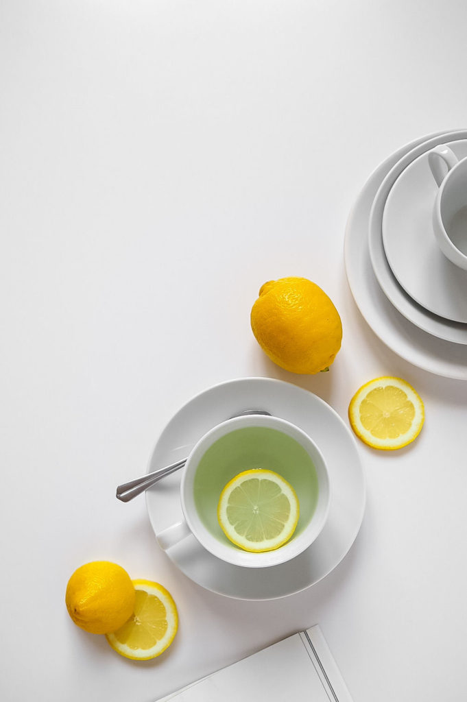 Minimal flatlay with lemons