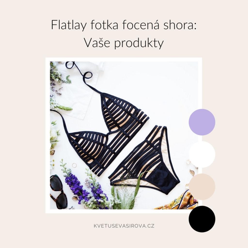 flatlay fotka splavkami akvětinami