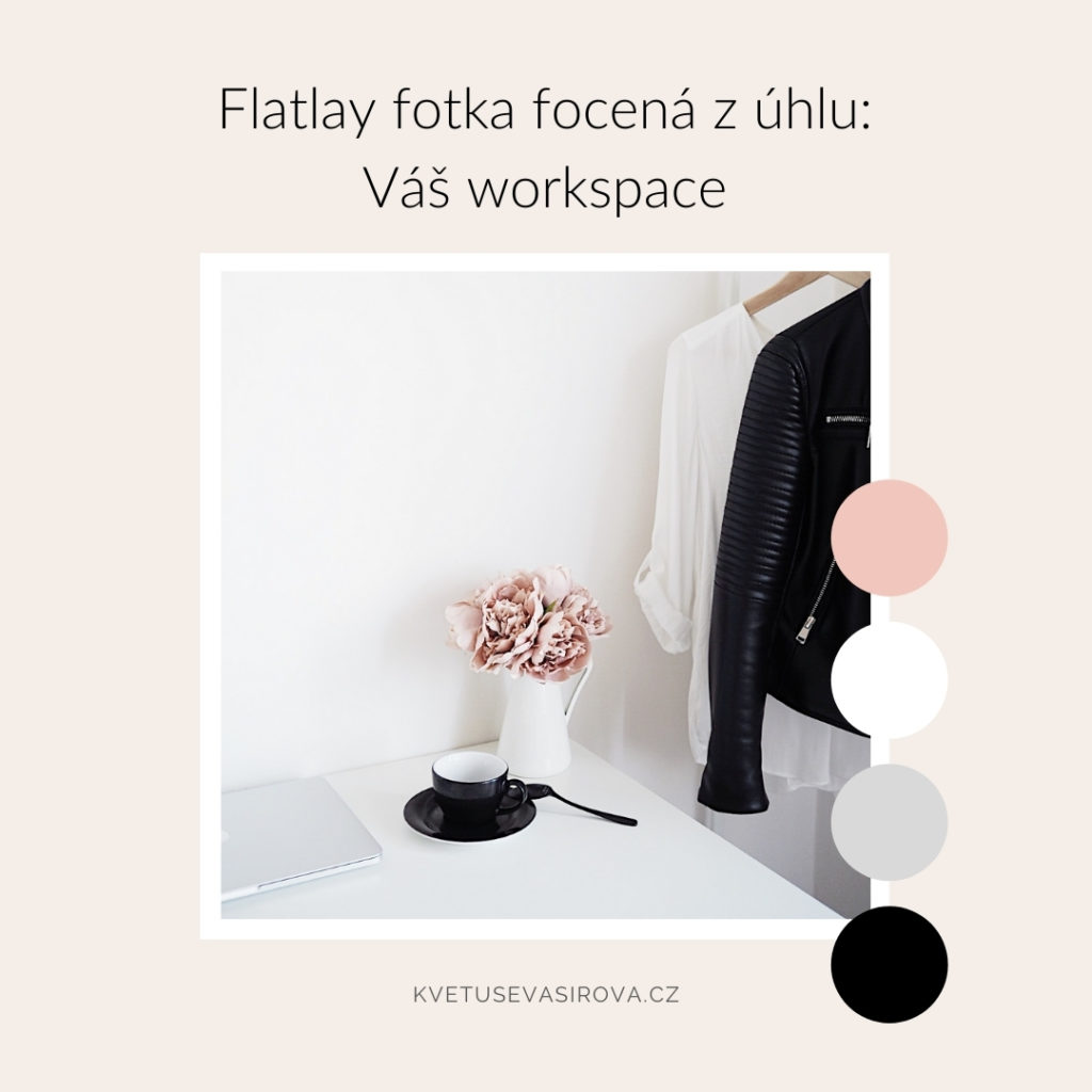 flatlay fotka zúhlu home office